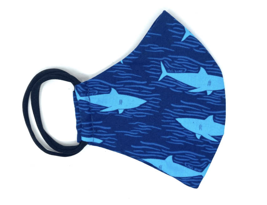 Shark Print Face Mask - Hawaiian Farmers Market