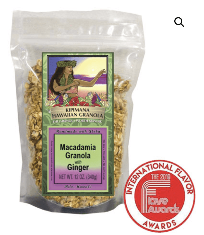 Macadamia Granola with Ginger 12oz - Hawaiian Farmers Market{
