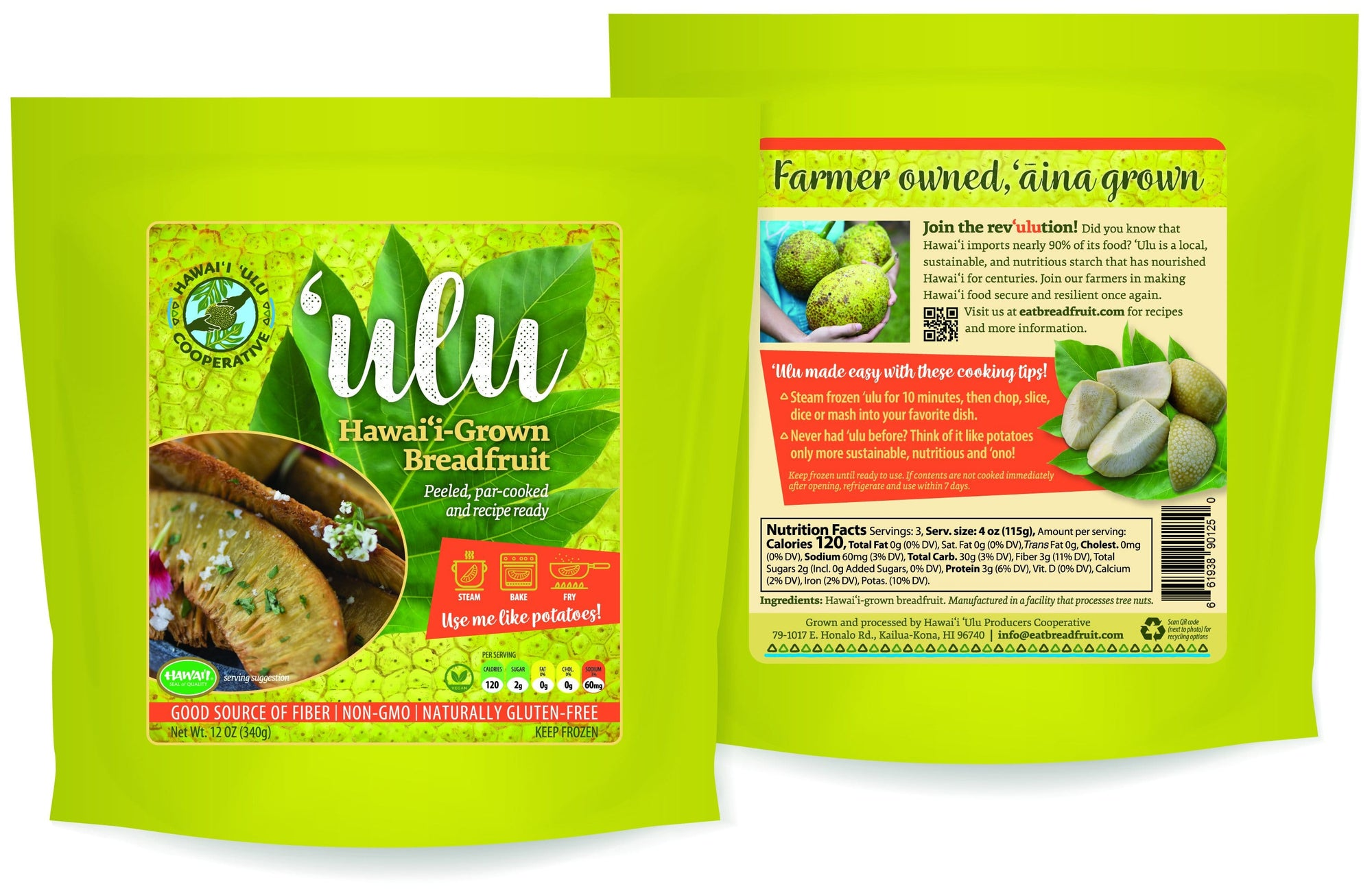 Cooked and Frozen 'Ulu 12oz 4 Pack (SHIPS WITHIN HAWAII ONLY) - Hawaiian Farmers Market{