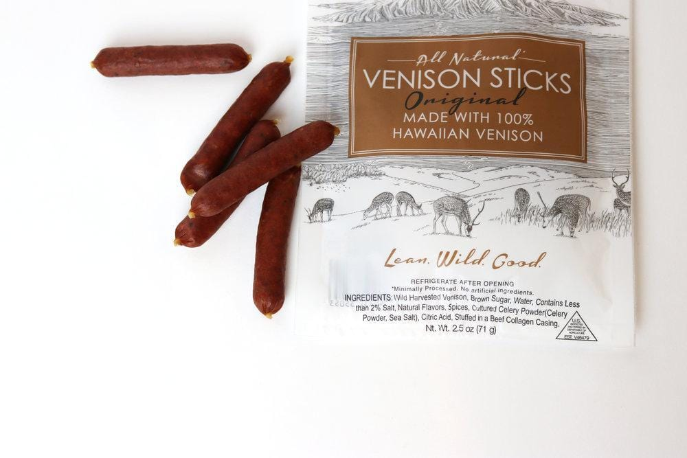 Venison Sticks - Original Flavor - Hawaiian Farmers Market