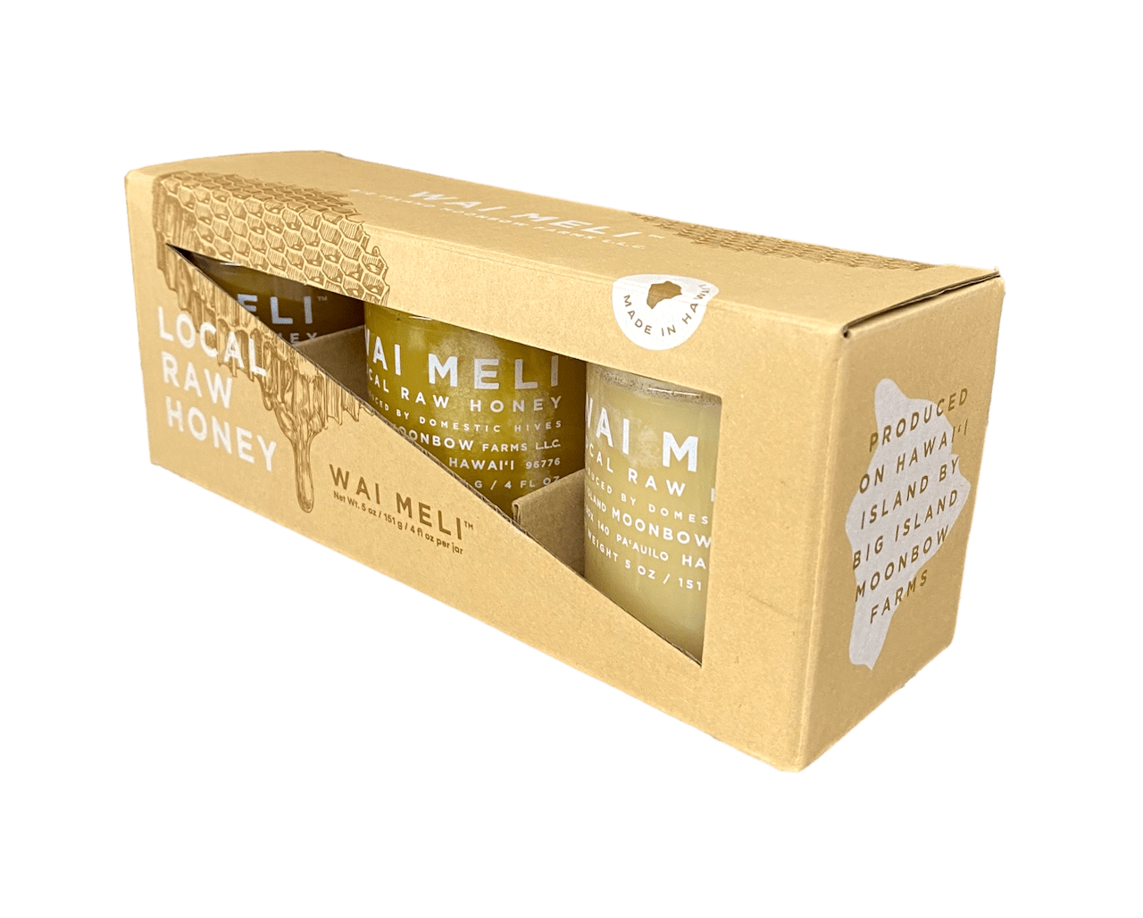 Raw Hawaiian Honey Gift Box Trio - Hawaiian Farmers Market{