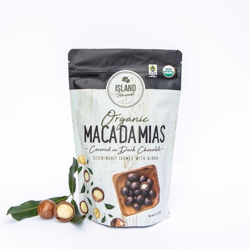 Organic Chocolate Covered Macadamia Nuts 9oz - Hawaiian Farmers Market{