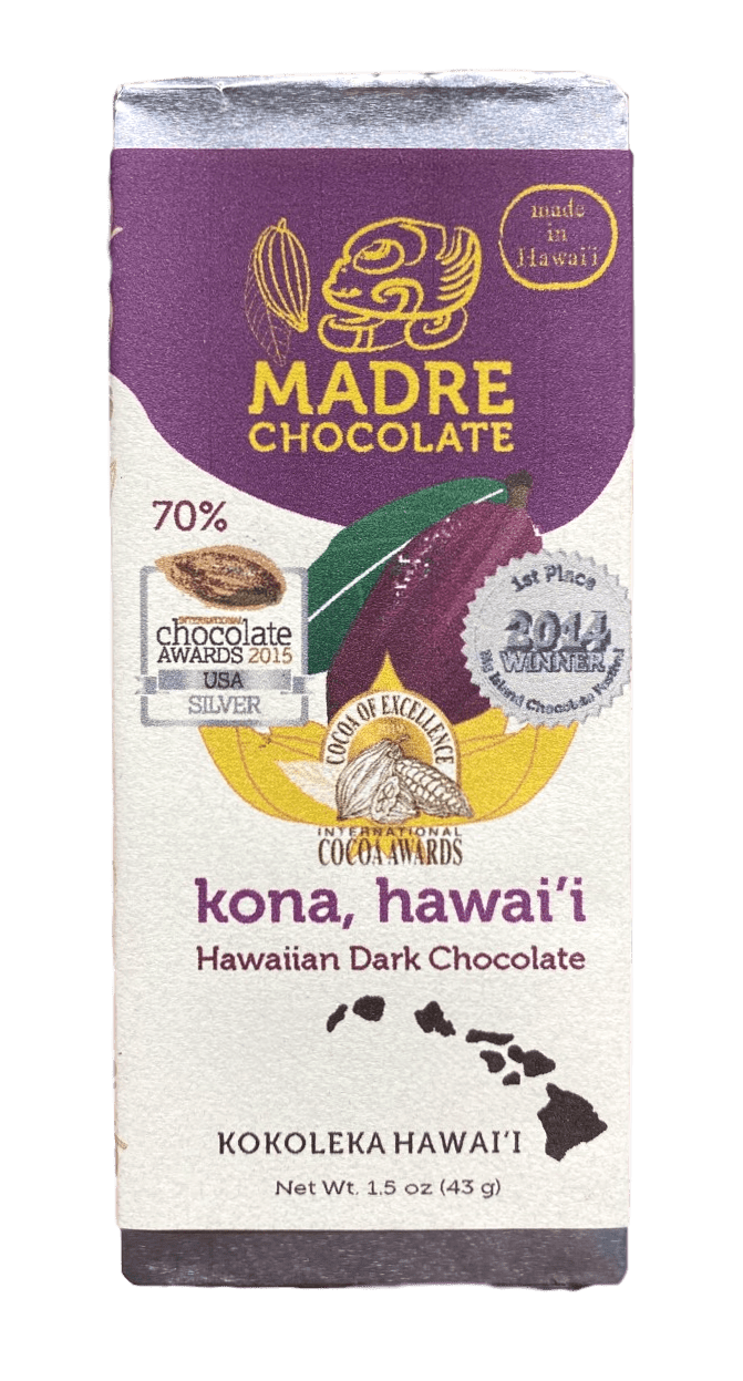 70% Hawaiian Dark Chocolate Bar 1.5oz - Hawaiian Farmers Market{