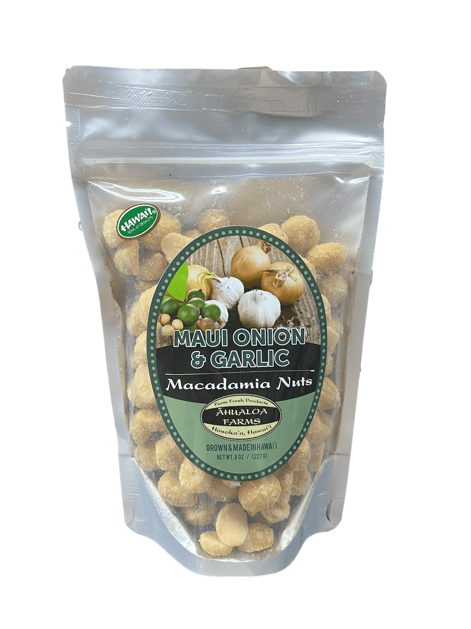 Maui Onion & Garlic Macadamia Nuts - Hawaiian Farmers Market