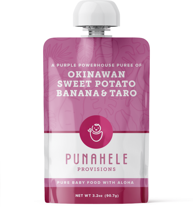 Hawaiian Baby Food Pouch- Sweet Potato, Banana, Taro - Hawaiian Farmers Market