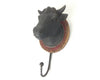 "Birch Maison Decorative Primitive / Farmhouse Resin Cow Head with Hanger, Black  - 9.5"" Tall"