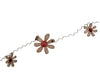"Birch Maison Primitive / Farmhouse Tin and Wood Garland ""Daisy"" -  48"" Long"