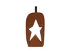 "Birch Maison Decorative farmhouse / Primitive Wooden Pumpkin with Star Cut Out, Orange - 7.5"" Tall"