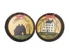 "Birch Maison Country House Fluted Tin Plates, Assorted, Set of 2 - 9.5"" Dia"