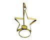 "TIN STAR W/WIRE HOLDER, 10.5""OFF WT  Craft Outlet"