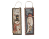 "Birch Maison Decorative Primitive / Farmhouse Wooden Signs Santa and Snowman, Set of 2 - 15"" Tall"