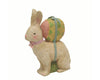 "Birch Maison Decorative Primitive / Farmhouse Sitting Paper Mache Bunny with Egg on Back - 10.5"" Tall"