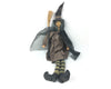 "Birch Maison Decorative Primitive / Farmhouse Fabric Witch with Broomstick & Cape - 23"" Tall"