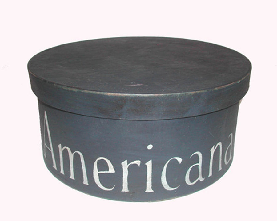 "Birch Maison Decorative Primitive / Farmhouse  Round Nesting Boxes  ""Independence Day"", Set of 3 - 7"" Dia"