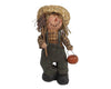 "Birch Maison Decorative Primitive / Farmhouse Paper Mache Scarecrow ""Happy Harvest"", Standing - 11"" Tall"
