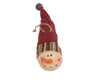 "Birch Maison Decorative Primitive / Farmhouse Paper Mache Snowman Head, Christmas Ornaments - 3"" Tall"