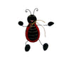 "Birch Maison Decorative Primitive / Farmhouse Paper Mache Lady Bug with Black Tin Wire Legs - 4"" Tall"
