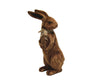 "Birch Maison Decorative Primitive / Farmhouse Paper Mache Rabbit with Velveteen Fabric Cover, Brown, Standing - 19"" Tall"