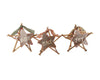 "Birch Maison Decorative Primitive / Farmhouse Twig And Tin Stars ""Believe - Peace - Joy"" Ornaments, Assorted, Set of 3 - 8"" Tall"