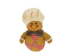 "Birch Maison Decorative Primitive / Farmhouse Fabric Half-Body Gingerbread Man, Ornament  - 5"" Tall"