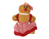 "Birch Maison Decorative Primitive / Farmhouse Fabric Gingerbread Woman with Plaid Dress and Head Scarf, Ornament - 11.5"" Tall"