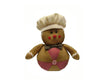 "Birch Maison Decorative Primitive / Farmhouse Fabric ""Gingerbread Man"" with Chef's Hat and Bow Tie - 11.5"" Tall"