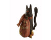 "Birch Maison Decorative Primitive / Farmhouse Paper Mache Figurine Duo, Pumpkin that reads ""Trick Or Treat"" and a Black Cat with Fabric Scarf  - 7.25"" Tall"