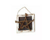 "Birch Maison Decorative Primitive / Farmhouse Wicker Star on Wooden Frame with String Hanger - 7.5"" Tall"