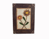"Birch Maison Decorative Primitive / Farmhouse Framed Primitive Paper Plaque with Daisy Flowers - 14"" Tall"