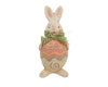 "Birch Maison Decorative Primitive / Farmhouse Paper Mache Bunny, Standing -  8"" Tall"