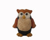 "Birch Maison Decorative Primitive / Farmhouse Paper Mache Owl, Orange / Off-White / Black, Standing - 3.75"" Tall"