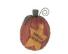 "Birch Maison Decorative Primitive / Farmhouse Paper Mache Pumpkin with Mustard Yellow Star ""Harvest Blessings"" - 8"" Tall"