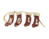"Birch Maison Decorative Primitive / Farmhouse Hand-Stiched Fabric Christmas Stocking Garland ""NOEL"", Off-White-Red - 36"" Long"