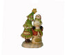 "Birch Maison Decorative Primitive / Farmhouse Stacked Resin Snowmen with Christmas Tree on Base - 7.15"" Tall"