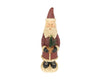 "Birch Maison Decorative Primitive / Farmhouse  Paper Mache Santa with Tree in Pot - 12"" Tall"