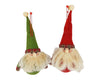 "Birch Maison Decorative Primitive / Farmhouse Fabric Santas Christmas Ornaments with Wavy Beards, Hats and Shirts, Set of 2 - 6"" Tall"