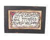 "Birch Maison Decorative Primitive / Farmhouse Burlap Plaque with Wood Frame ""Love - Friends - Laughter"" - 12"" Tall"