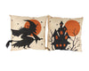 "Birch Maison Decorative Primitive / Farmhouse Fabric Halloween Cushions, Assorted, Set of 2 - 14""L x 5""W x 14""H"