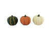 "Birch Maison Decorative Primitive / Farmhouse Paper Mache Pumpkins, Set of 3 -  4.25"" Tall"