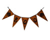 "Birch Maison Decorative Primitive / Farmhouse Halloween Fabric Flag Garland ""Boo"" with Pumpkin at each End -  13"" Long"