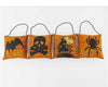 "Birch Maison Decorative Primitive / Farmhouse Fabric Halloween Pillow Ornaments with Spooky Motifs - 6.25"" Tall"