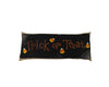 "Birch Maison Decorative Primitive / Farmhouse Fabric Pillow ""Trick Or Treat"", Black - 20"" L x 4.5"" W x 8"" H"