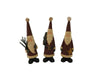 "Birch Maison Decorative Primitive / Farmhouse Paper Mache Standing Santas with Pine Tree Branch, Christmas Tree and Star, Assorted, Set of 3 - 9.75"" Tall"