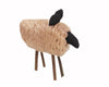 "Birch Maison Decorative Primitive / Farmhouse Wool Standing Sheep Figurine - 8"" Tall"