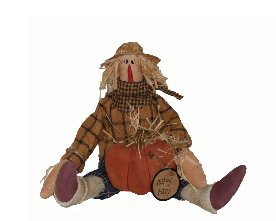 HAPPY FALL 16'' PRIMITIVE SCARECROW  Craft Outlet