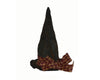 "Birch Maison Decorative Primitive / Farmhouse Witch Hat with Checkered Fabric Bow - 5"" Tall"