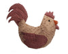 "Birch Maison Decorative Primitive / Farmhouse Chenille Rooster with Plaid Fabric Accents, Off-White / Red - 13"" Tall"