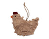 "Birch Maison Decorative Primitive / Farmhouse Chenille Chick Ornament - 4"" Tall"