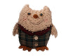 "Birch Maison Decorative Primitive / Farmhouse Standing Chenille Owl with Plaid Fabric Vest - 10"" Tall"