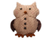 "Birch Maison Decorative Primitive / Farmhouse Standing Chenille Owl with 3 Buttons on Belly - 11"" Tall"